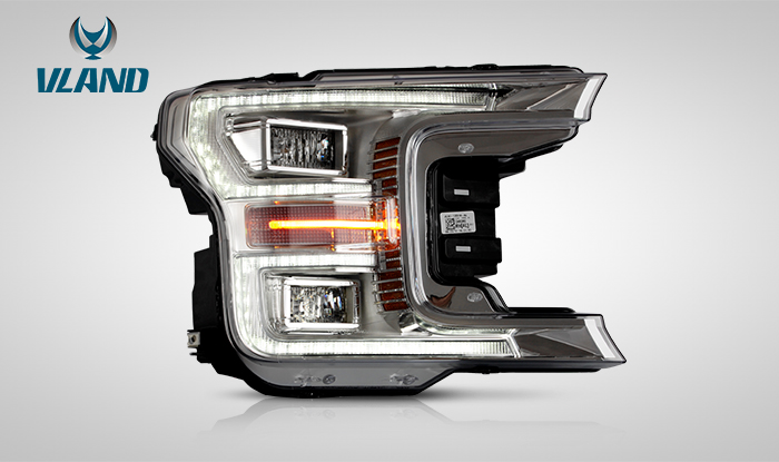 FOR FORD RAPTOR F150 2017-UP LED HEAD LAMP